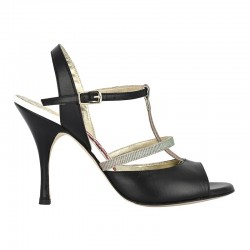 A 2 tt black leather Heel 9 cm