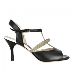 A2 tt black leather Heel 7 cm