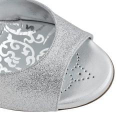 A 2 New silver glitter Heel 9 cm