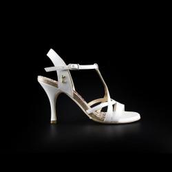 A 11 Perlato bianco glitter Heel 8 cm