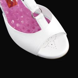 A 1 T Bianco glitter Heel 9 cm