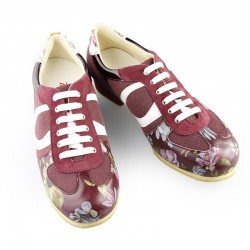 Sneakers woman sport flower h 4