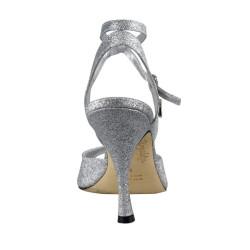 A 31 Glitterino argento p.l. Heel 9 cm