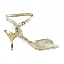 A 1 CL Glitter oro Heel 7 cm