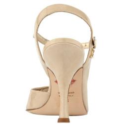 A9BIS Beige patent leather Heel 9 cm