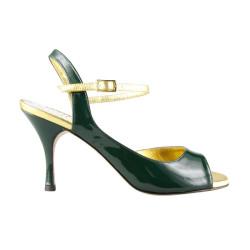 A 9 Vernice verde gucci Heel 8 cm