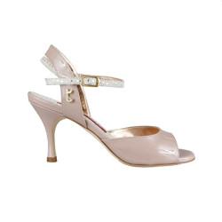 A 2 Vernice rosa Heel 7 cm