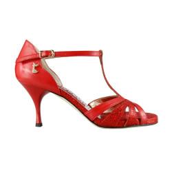 A 32 C Nappa Rosso cangiante Heel 7 cm