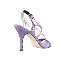 A 4 Glitter Viola Multicolor Heel 9 cm