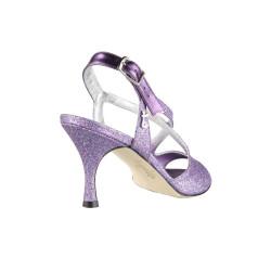 A 4 Glitterino Viola Multicolor Heel 7 cm