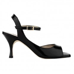A 9 BIS black patent leather Heel 7 cm