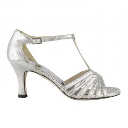 Liù Caviale Argento Heel 7 cm