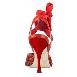 A 2 G Glitter rosso Heel 9 cm