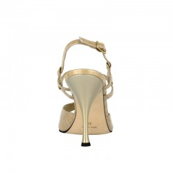 A 12 Vernice stampa Cocco Beige Heel 9 cm
