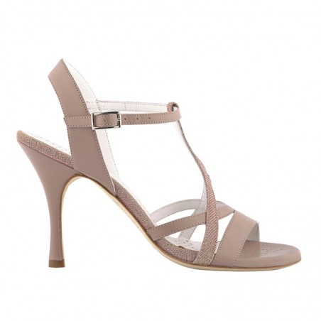 A11 dark pink leather heel 9