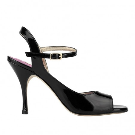 A 9 BIS black patent leather Heel 9 cm