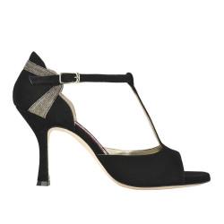 A 7 New Camoscio Nero Heel 8 cm