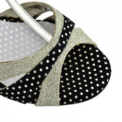 A 6 T Platinum Glitter dots Heel 7 cm