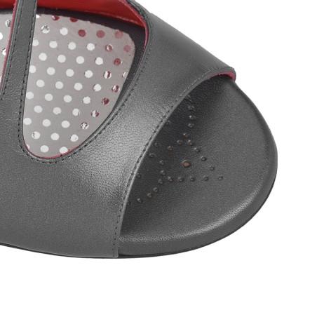 A 4 B Perlato nero Tacco 7 cm