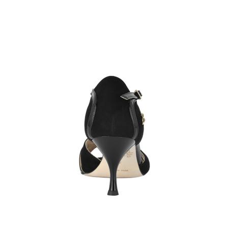 A 3 black suede patent leather Heel 6 cm