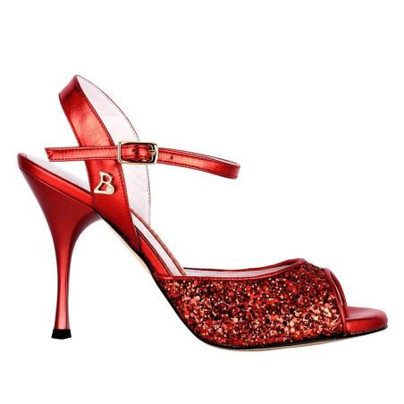 A 1 Glitter rosso Tacco 9 cm