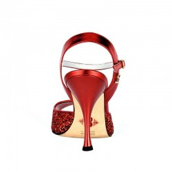 A1 red glitter leather heel 9
