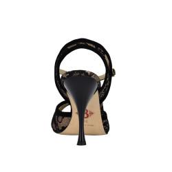 A 1 black lace Heel 9 cm