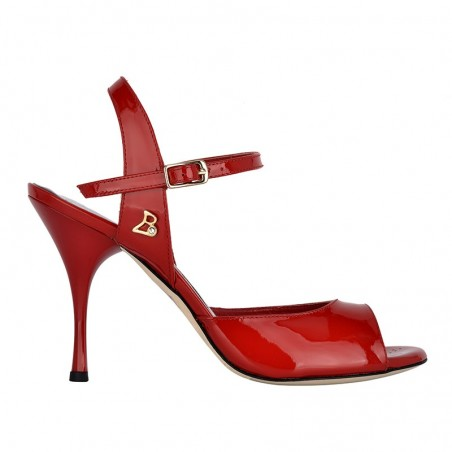A 1 Red patent leather Heel 9 cm