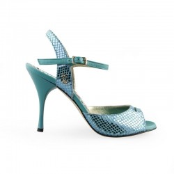 A 1 B Ocean printed leather Heel 8 cm