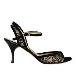 A 1 black lace skin Heel 7 cm