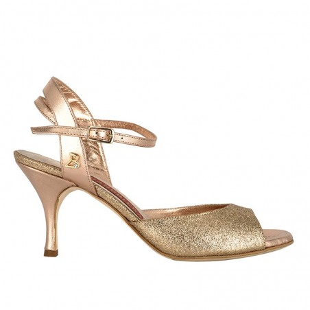 A 2 copper glitter leather Heel 7 cm