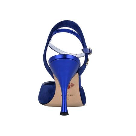 A 2 Camoscio Bluette Tacco 9 cm