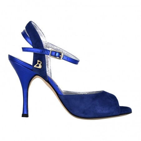 A 2 Camoscio Bluette Heel 9 cm