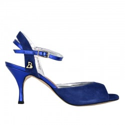 A2 bluette suede Heel 7 cm